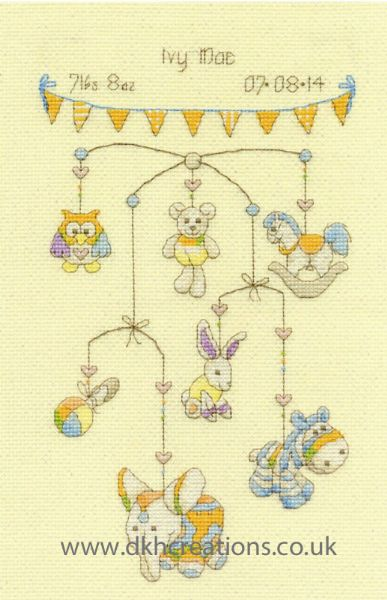Cute Mobile Sampler Cross Stitch Kit